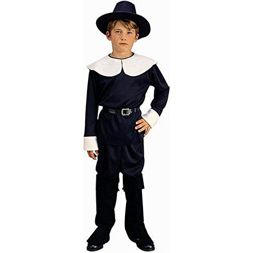 [Child Pilgrim Boy Costume, Size Youth Large 12-14] (Boy Pilgrim Costumes)
