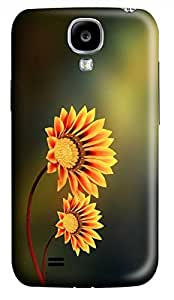 Samsung Galaxy S4 I9500 Hard Case - Yellow Flowers Galaxy S4 Cases