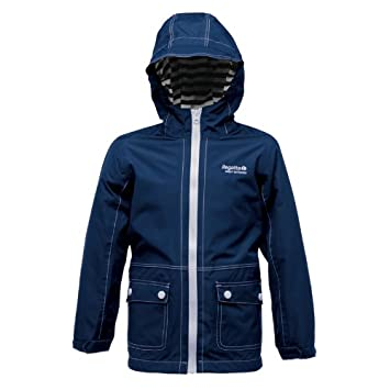 40d2003a5b7 Regatta niños chicos pocillos Hydrafort chaqueta impermeable azul marino  Nautic Navy Talla:3-4 yrs - Chest 55-57cm: Amazon.es: Deportes y aire libre