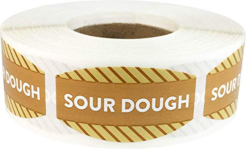 Sourdough Grocery Store Food Labels .75 x 1.375 Inch Oval Shape 500 Total Adhesive Stickers ()