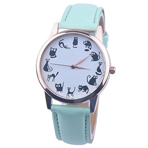 Analog Quartz Vogue Wrist Watches (Green) (Infinite Braid Ring)
