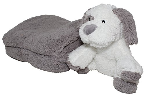 SILVER ONE Sherpa Plush Stuffed Animal and Throw Blanket 2 Peice Gift Set for Kids/Children | 40'' x 50'' Soft Plush Throw | Get Well Gift, Grey Dog by SILVER ONE (Image #2)