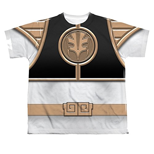 Ranger Costume White Morphin Mighty (Mighty Morphin Power Rangers White Ranger Costume - All Over Youth Front)