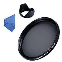 K&F Concept 58mm CPL Polarizer Filter Lens Tulip Hood for Canon EF 50mm f/1.4 Nikon