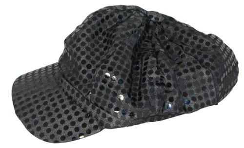 Black Sparkly Sequin Newsboy Cap Diva Hat Disco Rave Girls (Black Sparkly Dance Costumes)