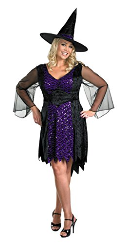 Disguise Womens Witch Brilliantly Bewitched Halloween Themed Fancy Costumes, 2XL (22-24) (Bewitched Costume)