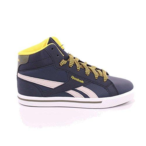 Reebok Royal Comp 2ms, Zapatillas de Deporte Unisex Niños Azul (Collegiate Navy / Sand Stone / Yellow / Green)