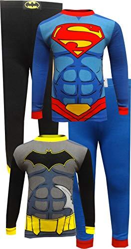 DC Comics Little Boys' Batman Superman Cotton 2-Pack Pajamas 4T -