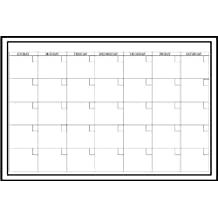 WallPops Peel and Stick Dry-Erase Monthly Calendar Decal