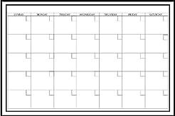 Large White Monthly Dry Erase Calendar D...