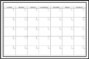 Whiteboard Weekly Calendar Decal - Decorative Wall ...