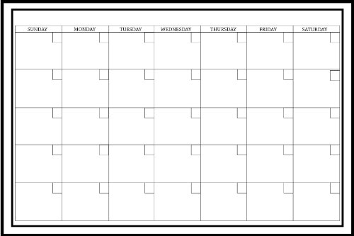 Wall Pops WPE0447 24-Inch by 36-Inch Peel and Stick Dry Erase Monthly Calendar Decal - 24