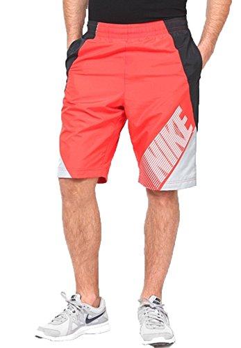 Nike Men's Colorblock Flow Sport Casual Shorts-Crimson/Blck/Grey-2XL