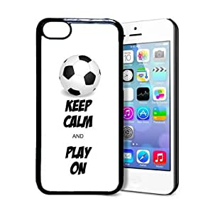 SudysAccessories Keep Calm And Play On Soccer Thinshell Protective Plastic iphone 6 plus Case