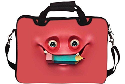 Snoogg Nerdy Geist 2670 Gedruckt Notebook-Tasche mit Schultergurt 15 bis 15,6 Zoll