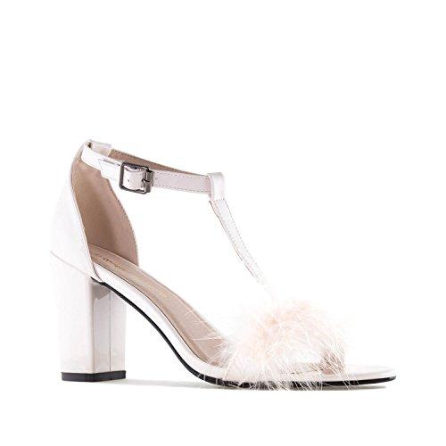 35 pour sandales Plumes Beige Andres Pointures Vernis 42 Grandes Femmes Am5260 petites 45 À Et Machado 32 OwYH4