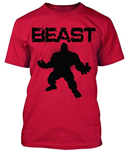 New Generation Apparel Beast Shirt Work out Gym Wear (Red, L) - Iron Works T-shirt
