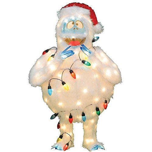 (ProductWorks 32-Inch Pre-Lit Rudolph The Red-Nosed Reindeer Bumble Christmas Yard Decoration, 80 Lights)