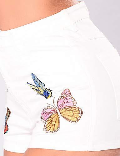 White Jeans Pantaloni Geometrici Donna Da Yfltz Chic 4qS5ZCqYw