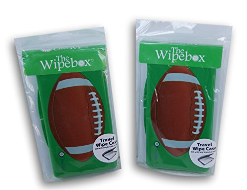The Wipebox Travel Wipe Case - Football - Set of 2 by Über Mom LLC