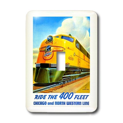 Northwestern Train (3dRose LLC lsp_109629_1 Northwestern Train Line Poster Single Toggle Switch)