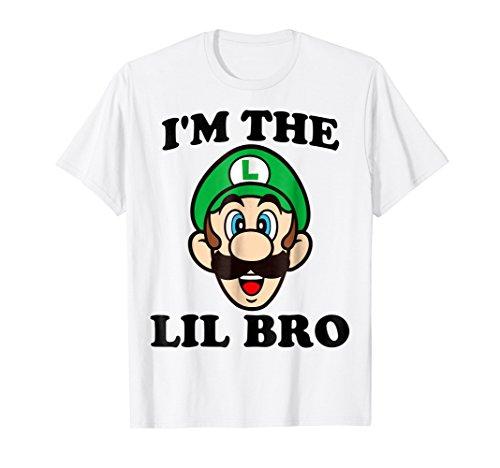 Nintendo Super Mario Luigi Lil Bro Graphic T-Shirt