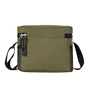 ORICSSON 4.9L Cooler Bag Tote Insulated Lunch Box Adjustable Strap Freezable Bag with Zip Closure Green