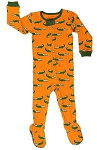 "Elowel Baby Boys footed ""Aligator"" pajama sleeper 100% cotton (size 6M-5Years)"