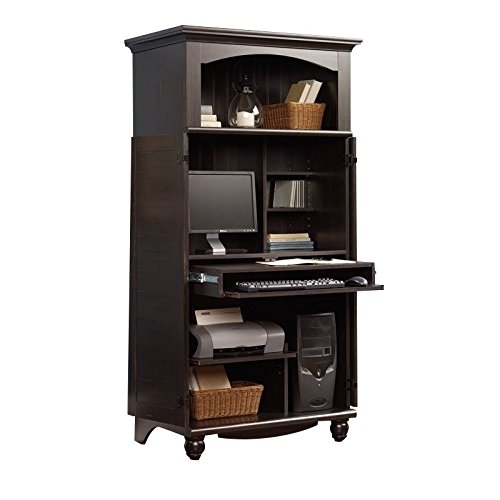 Sauder Harbor View Computer Armoire, Antiqued Paint finish (Computer Armoire Small)