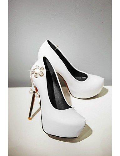 Noir Evénement amp; ShangYi Talon Similicuir Mariage White Rouge amp; Blanc Talons Femme Chaussures Soirée Travail Talons Aiguille Bureau qRxzBAwq
