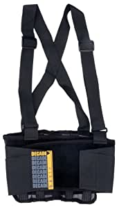 Decade 3333 Basic Back Support, Black, Large