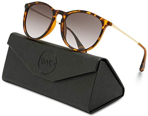 WearMe Pro EXCLUSIVE - Round Retro Polarized Lens Classic Sunglasses for ()