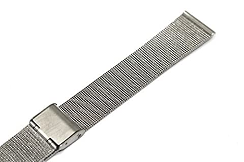 18MM SILVER STAINLESS STEEL MESH METAL BUCKLE WATCH BAND STRAP FITS SKAGEN & OTHERS (Metal Watch Bands Replacement)