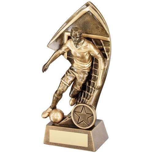 TrophyMaker UK Balón de fútbol con efecto de latón y premio de red ...