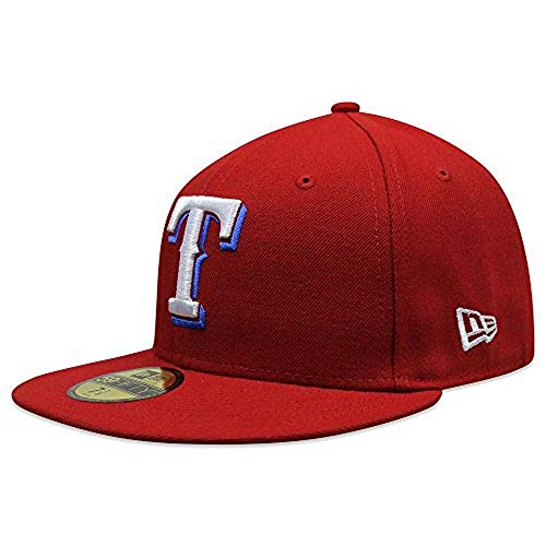 (New Era Texas Rangers MLB Authentic Collection 59Fifty Cap Red/White/Blue Size Fitted 7 1/4)