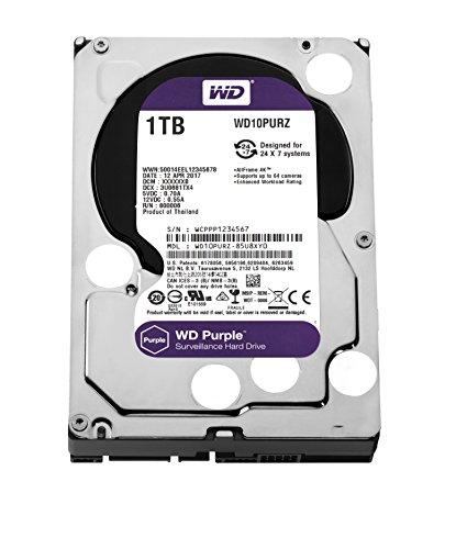 WD Purple 1TB Surveillance Hard Drive - 5400 RPM Class, SATA 6 Gb/s, 64 MB Cache, 3.5