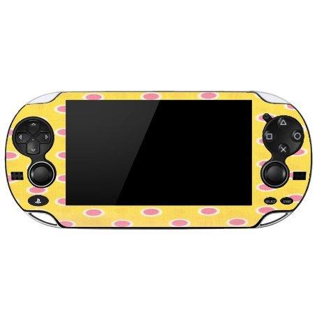 pink-and-yellow-polka-dots-playstation-vita-vinyl-decal-sticker-skin