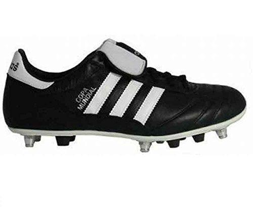 adidas - Botas de fútbol de cuero para hombre negro Schwarz / Weiß