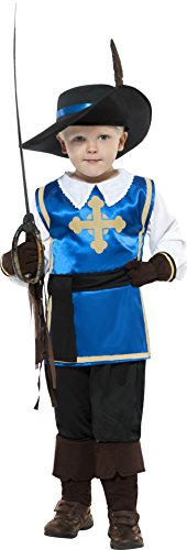 Smiffy's Musketeer Child Costume - Blue,   Small (Musketeer Costume For Kids)