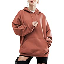 YesFashion Women Plus Size Casual Hoodie Pocket Loose Sweater