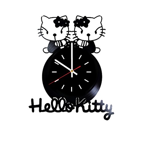 Hello Kitty Vinyl Wall Clock Handmade