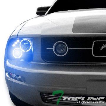 Topline Autopart 10000K Hid Xenon Black Ccfl Halo - Mustang 2008 Headlights Hid Halo