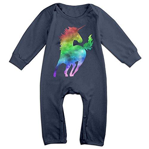 Costume Drama Youtube (Newborn Baby Rainbow Galaxy Unicorn Long Sleeve Climb Romper 12 Months Navy)