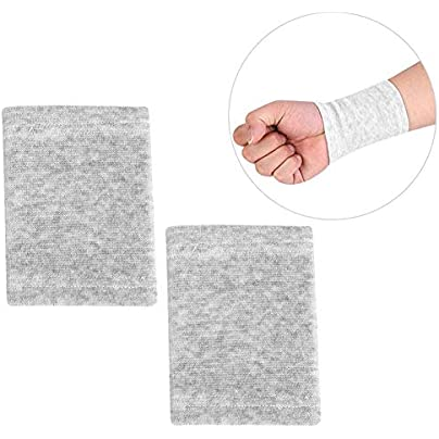 Qiterr Thermal Protector Wrist Guard Sweatband Wrist Guard Bamboo Charcoal Wristband Elastic Breathable Estimated Price £4.70 -