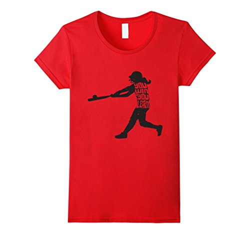 Womens You Win Or You Learn Softball Motivation Training T-Shirt Medium Red