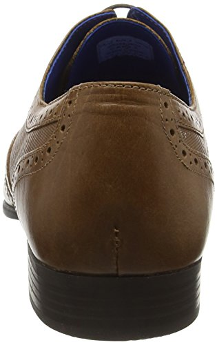 Tape Stringate Red 2 Marrone Basse Carn Scarpe Uomo Tan Brogue Owqd1g7Td