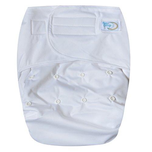 Happy Endings Teen / Adult Hook & Loop Closure Reusable Cloth Diaper Incontinence - White - Adult Cloth Diaper