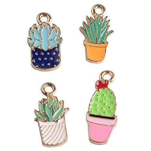 (M237-E 8pcs New Cute Assorted Cactus Bracelet Charms Pendants Wholesale)