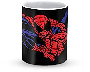 Stylizedd Mug 11oz Ceramic Mug Spidey in Air