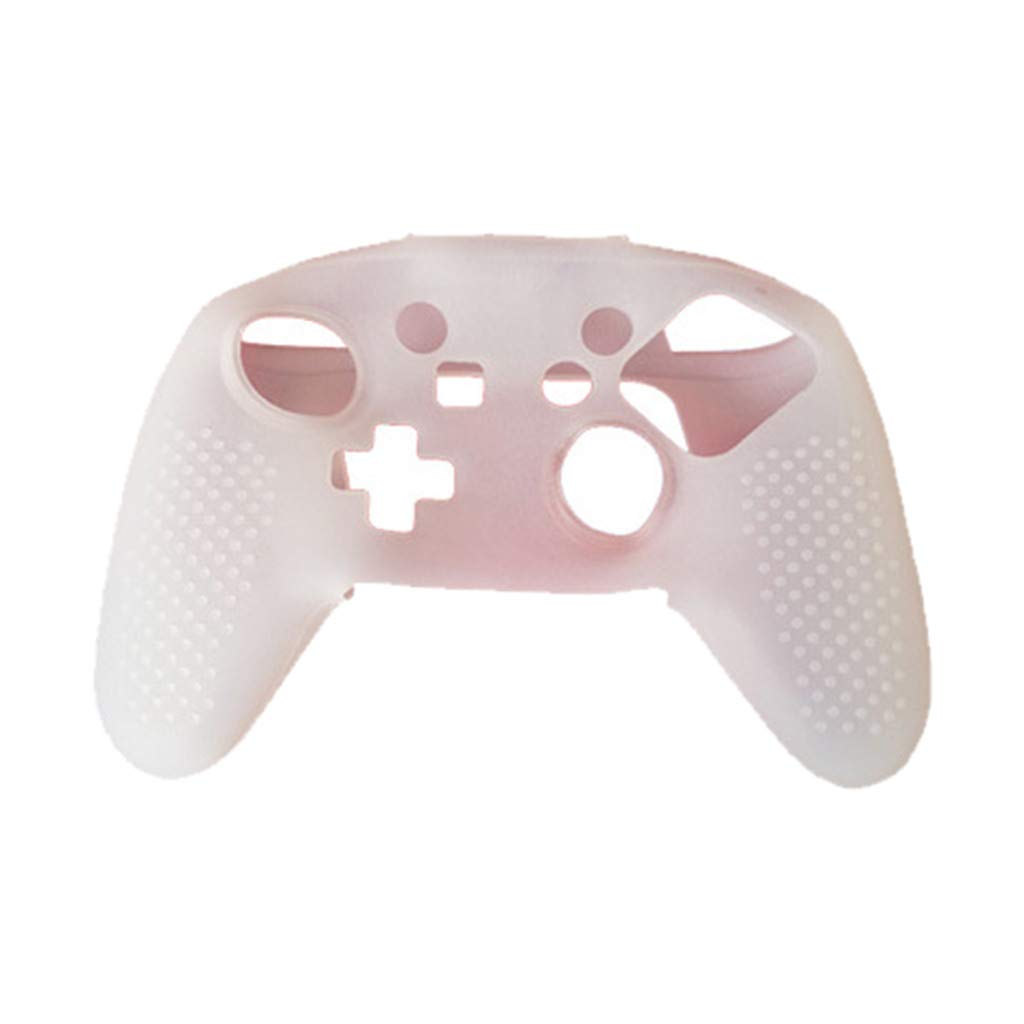 Amaping Soft Non-slip Silicone Protective Case Cover For Nintendo Switch Pro Playstation PS4 Controller (White)